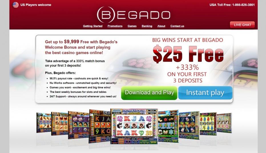 Эксклюзивное предложение! 25$ от Begado Casino