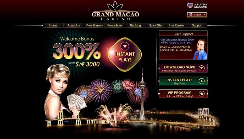 Новый бонус от Grand Macao casino 30 долларов абсолютно бесплатно