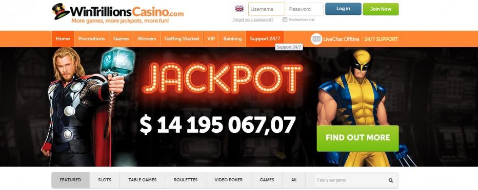 Бонус для новых игроков 5$ от WinTrillions Casino