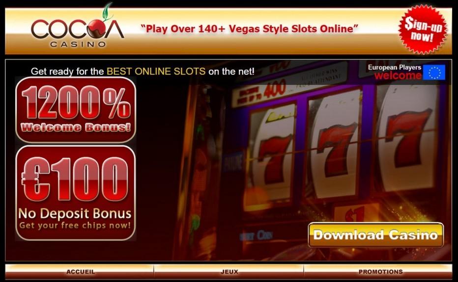 100$ без депозита от Cocoa Casino