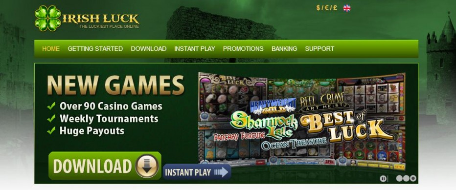 Бездепозитный бонус 33$ Irish Luck Casino
