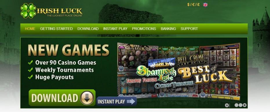 Бездепозитный бонус 33$ Irish Luck Casino