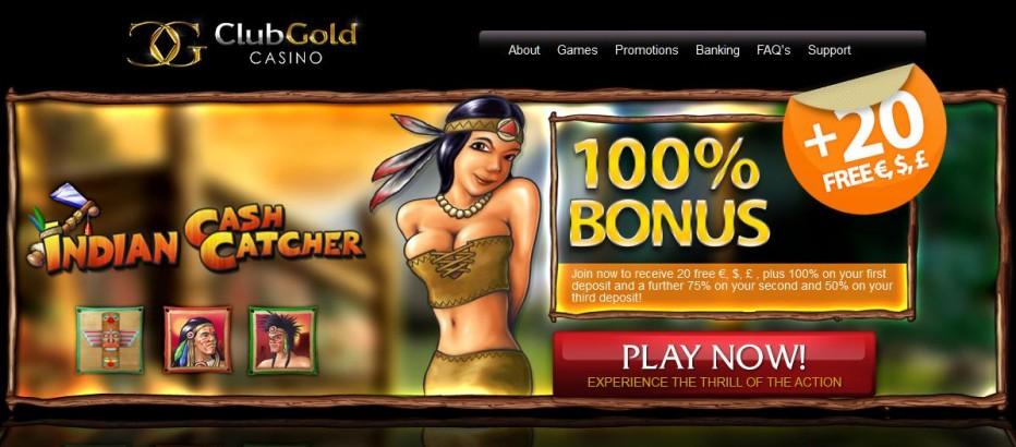 Бездепозитный бонус 20$€£ СlubGold Casino