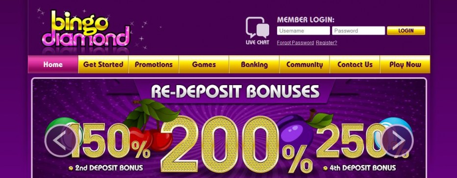 Бездепозитный бонус 15 BBz Diamond Bingo