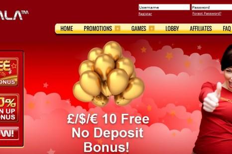 Бездепозитный бонус £/$/€10 Gala Bingo