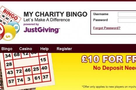 Бездепозитный бонус £/$/€10 My Charity Bingo