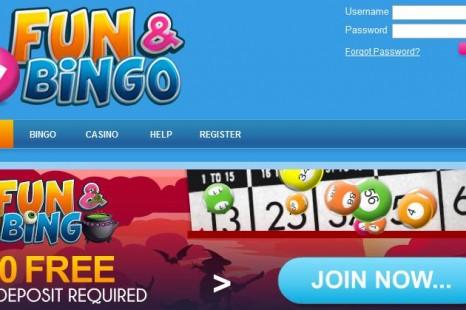 Бездепозитный бонус £/$/€10 Fun and Bingo