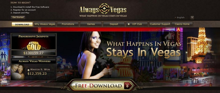 Бездепозитный бонус 10$ Always Vegas Casino