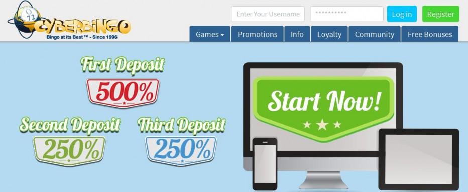 Бездепозитный бонус $25 Cyber Bingo