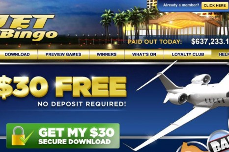 Бездепозитный бонус 30$ Jet Bingo