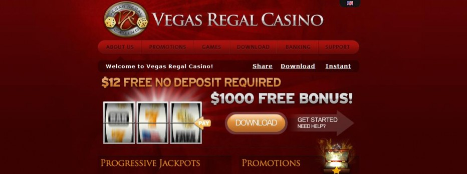 Бездепозитный бонус 12$ Vegas Regal Casino