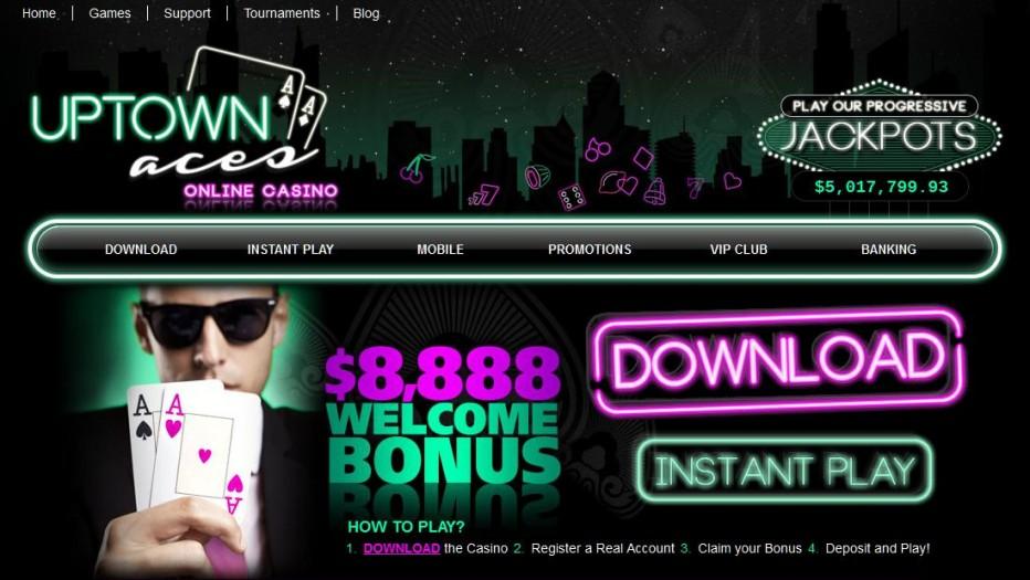 100 бесплатных вращения UpTown Aces Casino
