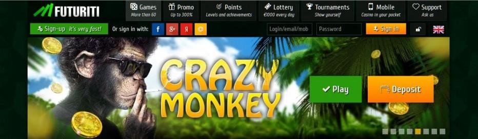 Бездепозитный бонус 50€ Futuriti Casino