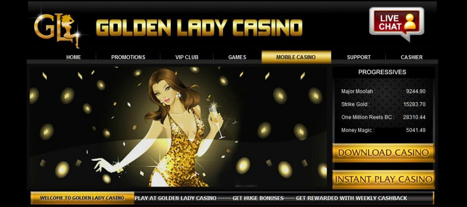 Free Play 175$ Golden Lady Casino