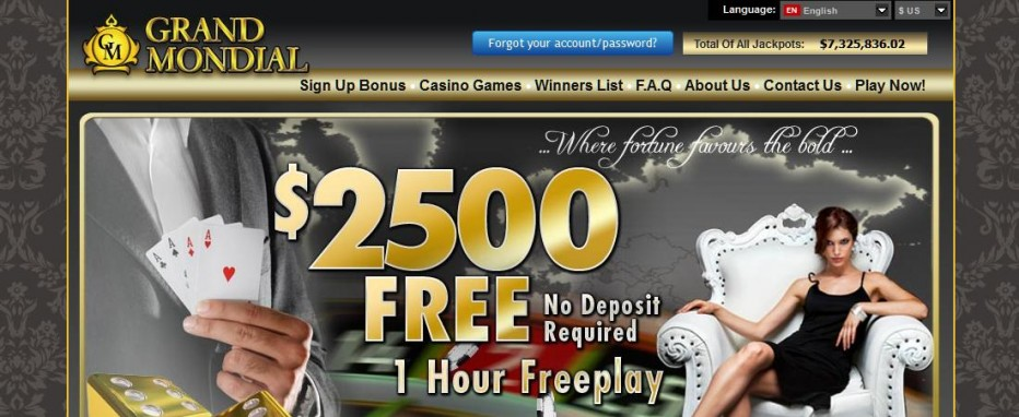 Free Play 2500$ Grand Mondial Casino
