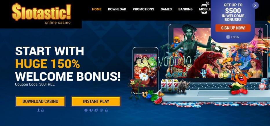 20 бесплатных вращения Slotastic casino