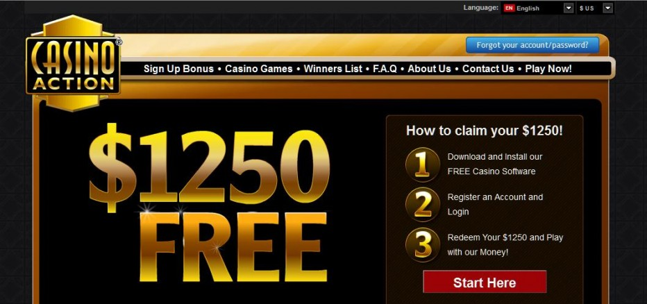 Free Play 1250$ Action Casino