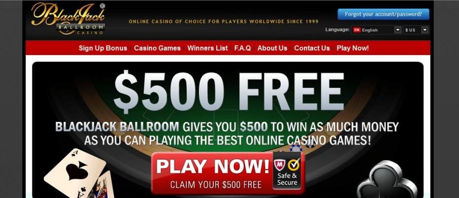 Free Play 500$ Blackjack Ballroom Casino