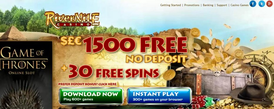 Free Play 1500$ River Nile Casino