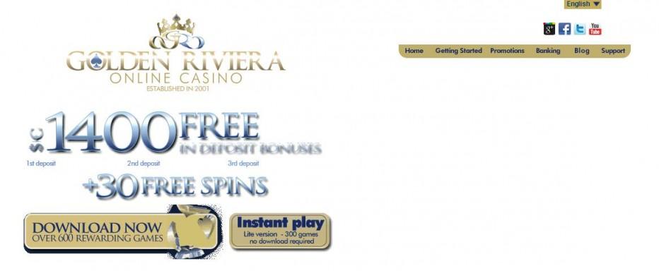 Free Play 2500$ Golden Riviera Casino