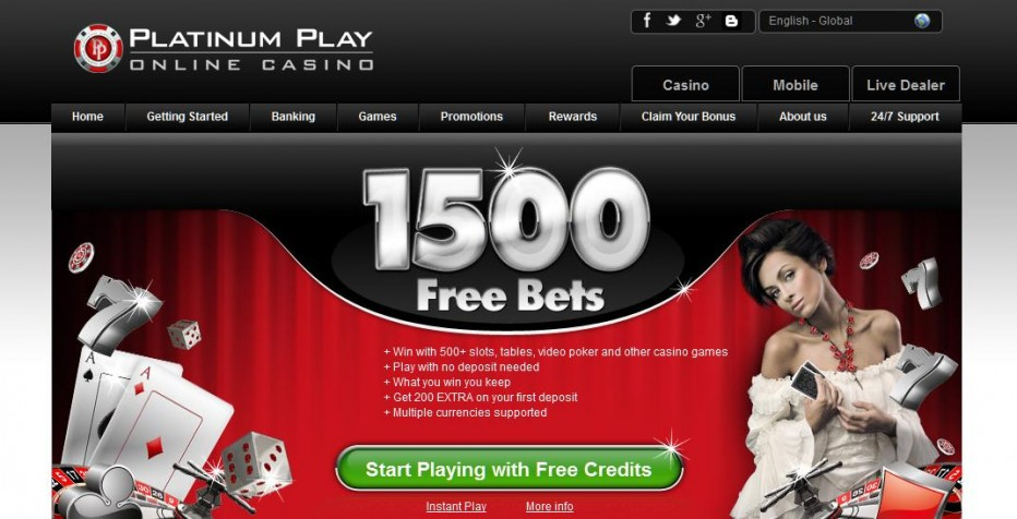 Free Play 1500$ Platinum Play Casino