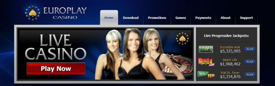 Бездепозитный бонус 20$ Europlay Casino