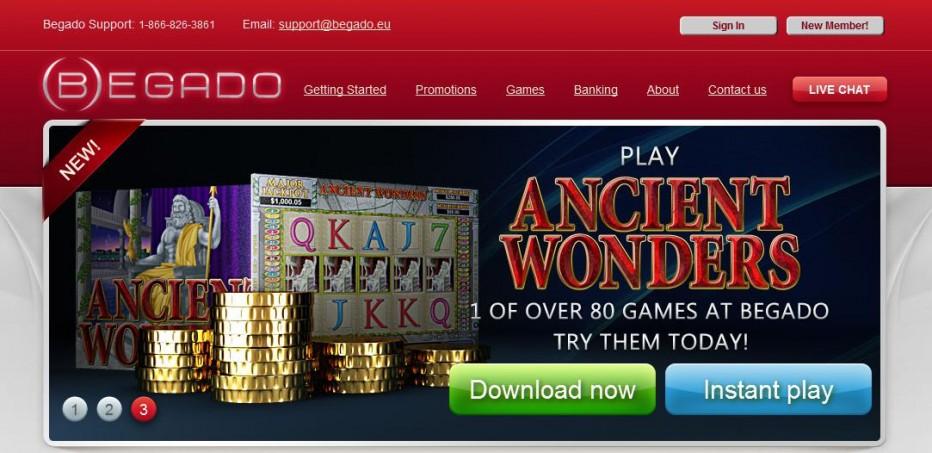 Бездепозитный бонус 10$ Begado Casino