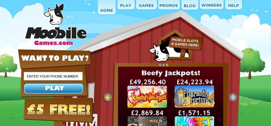 Бездепозитный бонус 5£ Moobile Games Casino