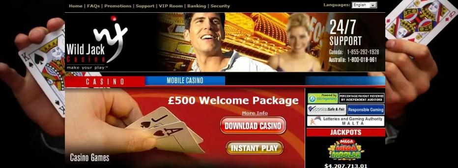 Бездепозитный бонус 5$/€/£ Wild Jack Casino