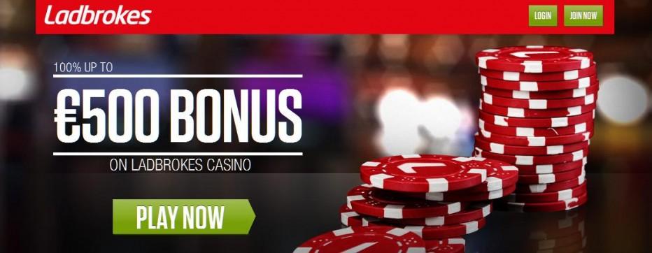 Бездепозитный бонус 5€ Ladbrokes Casino