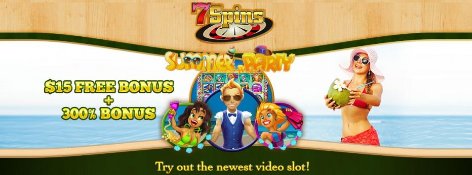 Бездепозитный бонус 15$ от 7Spins Casino