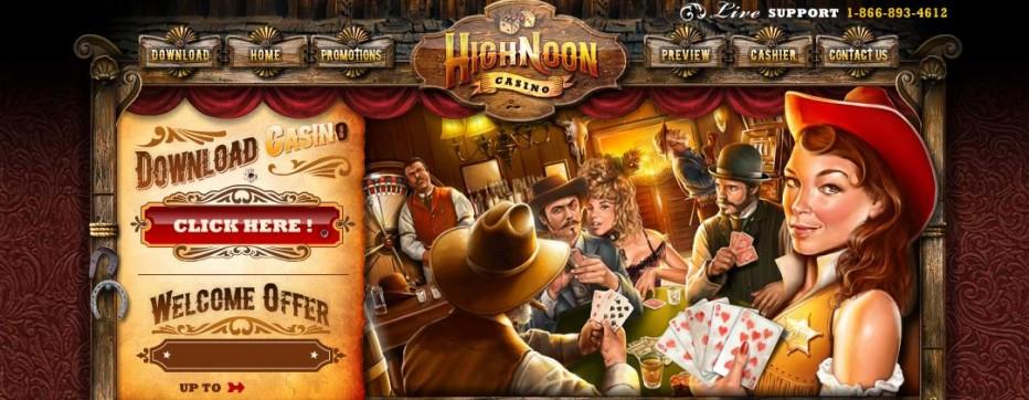 Бездепозитный бонус 60$ High Noon Casino