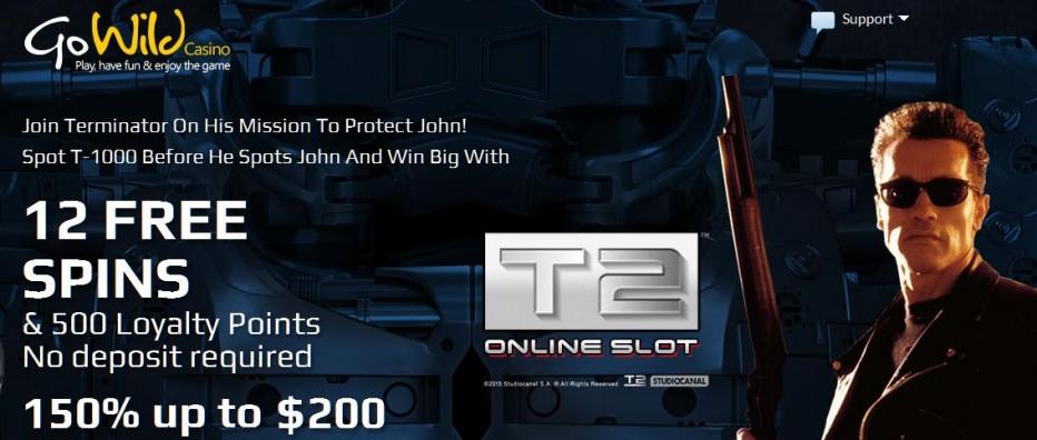 12 бесплатных вращений GoWild Casino