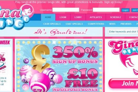 Бездепозитный бонус £10 Gina Bingo