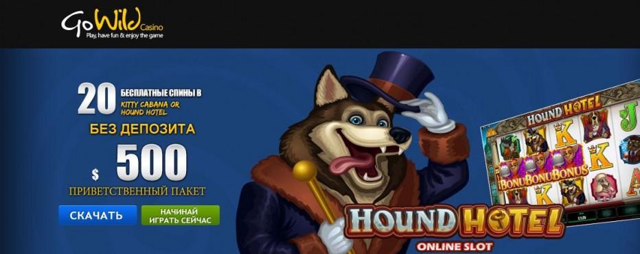 20 бесплатных вращений GoWild Casino