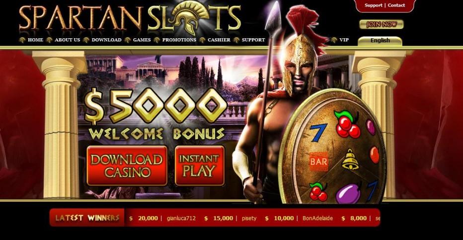Бездепозитный бонус 20$ Spartan Slots Casino