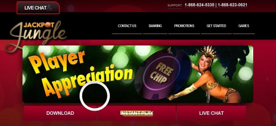Бездепозитный бонус 10$ Jackpot Jungle Casino