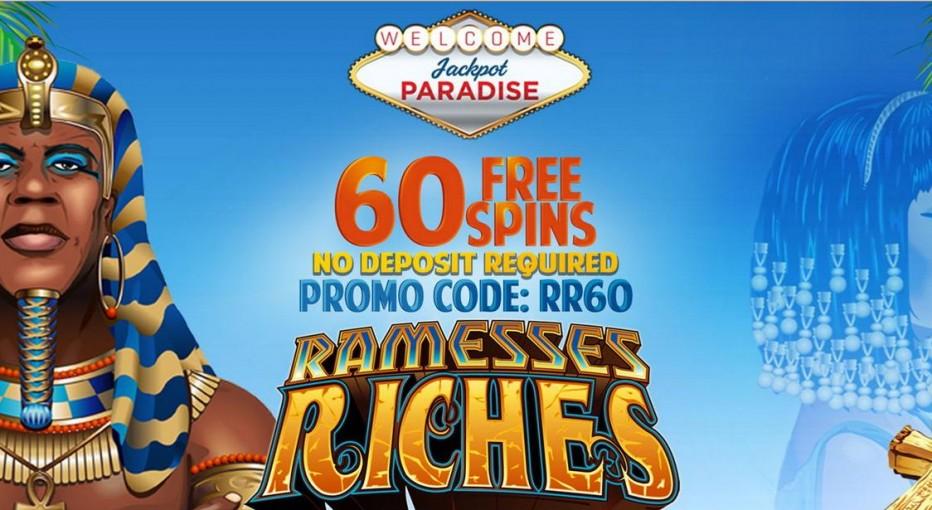 60 бесплатных вращений Jackpot Paradise Casino
