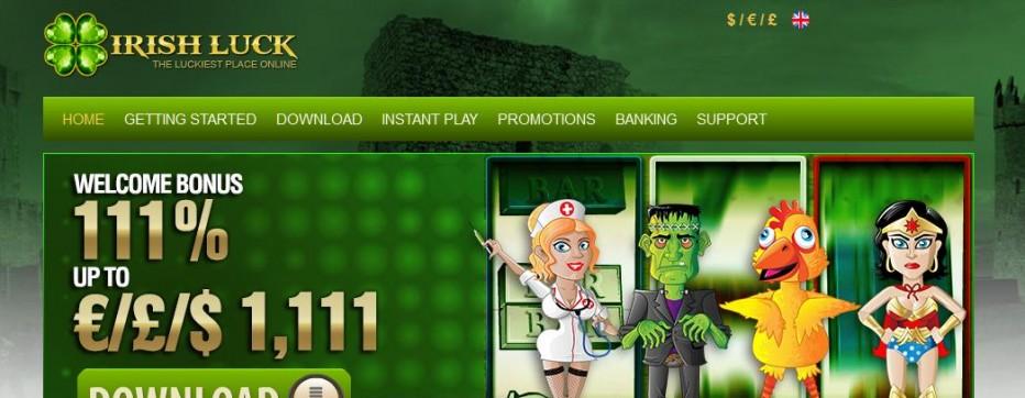 Бездепозитный бонус 11$ Irish Luck Casino