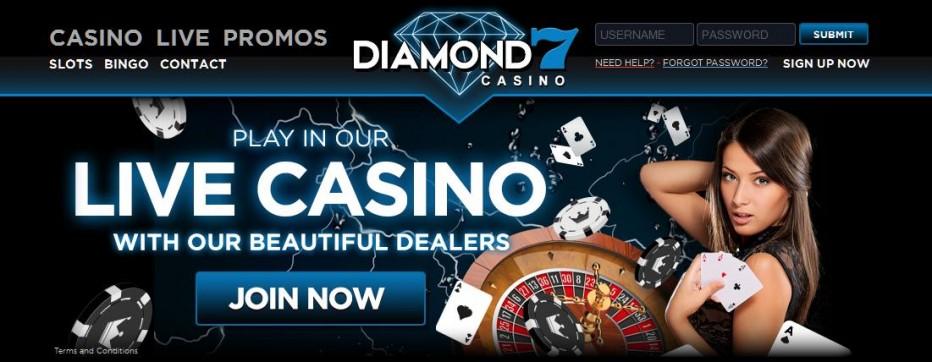 20 бесплатных вращений Diamond7 Casino