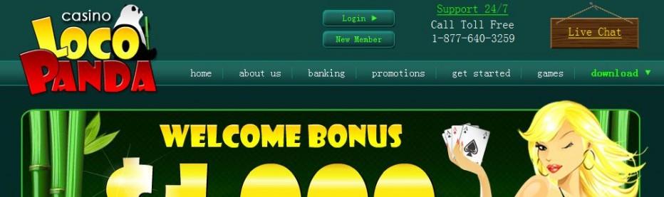 49 бесплатных вращений Loco Panda Casino (Казино закрыто)