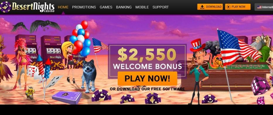 Бездепозитный бонус 10$ Desert Nights Casino