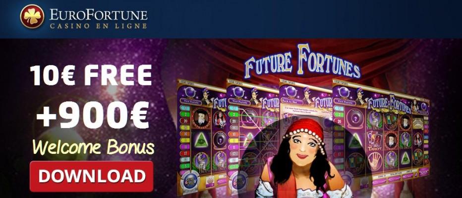 Бездепозитный бонус €10 EuroFortune Casino