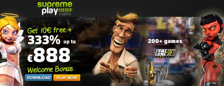 Бездепозитный бонус €10 Supreme Play Casino