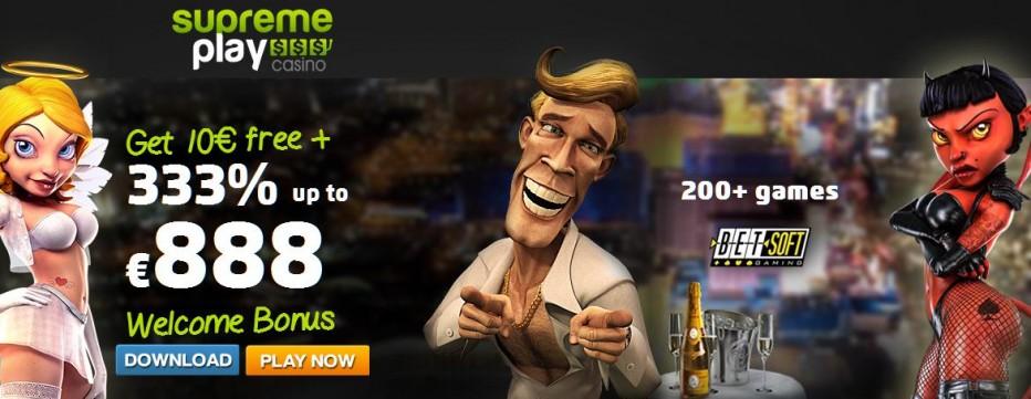 Бездепозитный бонус €10 Supreme Play Casino