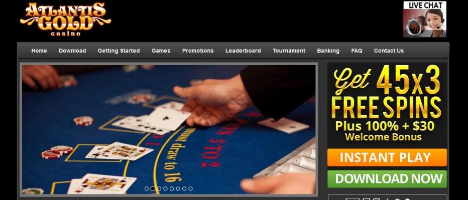 30 бесплатных вращений Atlantis Gold Casino