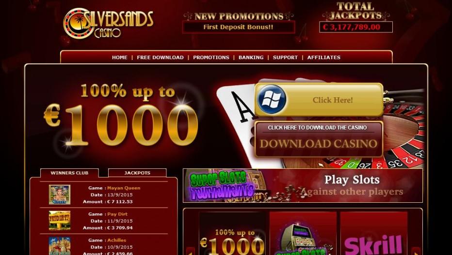 Бездепозитный бонус €20 Silver Sands Casino