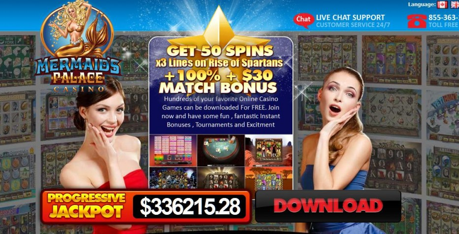 45 бесплатных вращений Mermaid's Palace Casino
