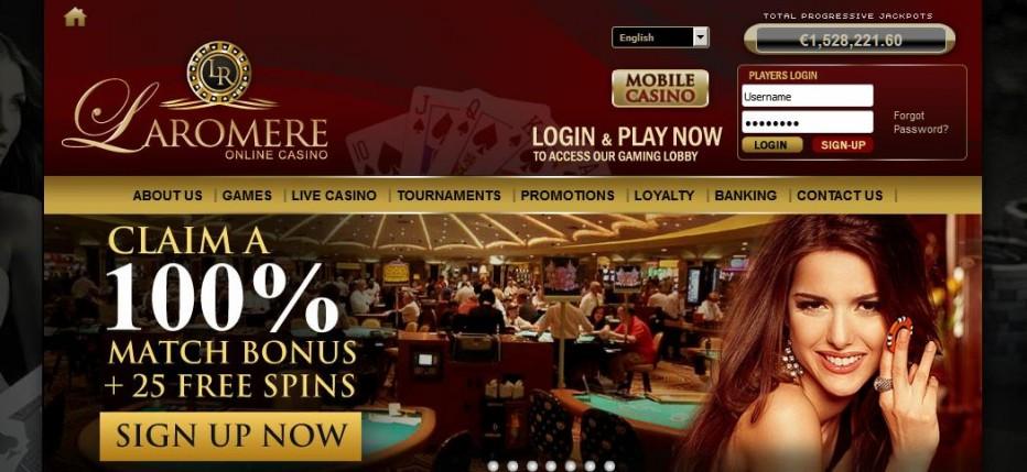 15 бесплатных вращений LaRomere Casino