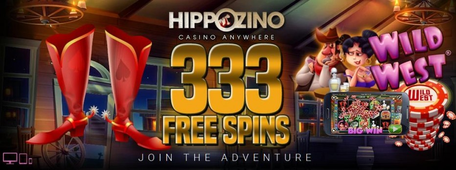 33 бесплатных вращений Hippozino Casino